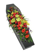 Vibrant Casket Spray.