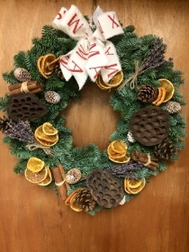 Natural Fresh Door Wreath