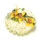 Based Posy Yellow, Green & White